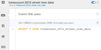Default SQL query gets ALL the trees from the dataset.